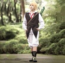 The Seven Deadly Sins Anime Meliodas Dragons Sin of Wrath Cosplay Costume Uniforms Shirt + Vest + Pants + Tie / Wig / Bag