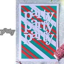 Металлические штампы в форме букв для вечеринки трафареты рукоделия