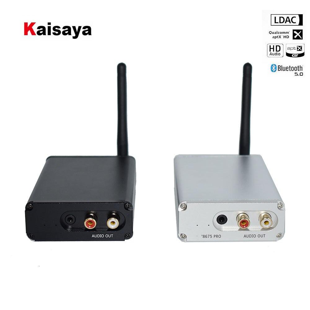 Беспроводной приемник Bluetooth 5,0 8675 LDAC PCM5102A DAC декодирование 3,5 мм RCA выход 24 бит с антенной