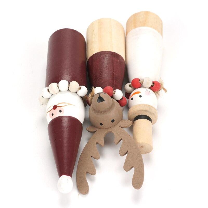 Рождественские украшения для дома деревянный Снеговик Санта Клаус игрушечные олени мини украшения Рождество 2019 Новогодняя вечеринка diy по...