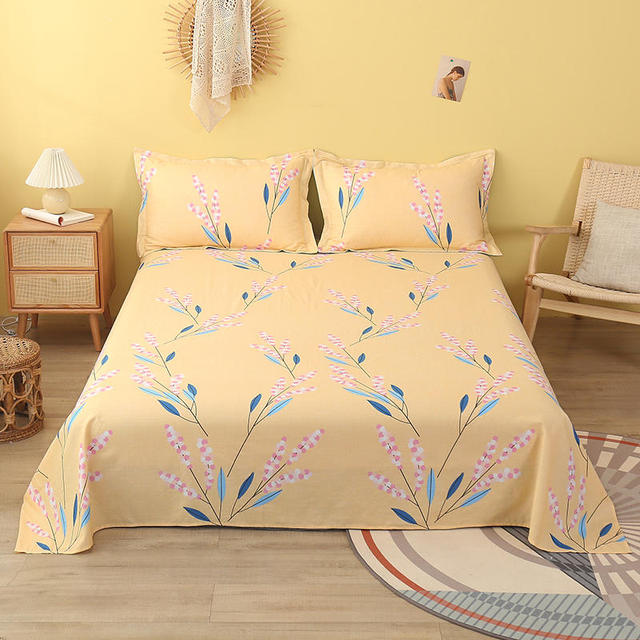 1 Pc Flat Bedding Sheet King Size Lenzuola Matrimoniali Cotone Flower Pattern Cotton Sheets For Double Bed No Pillowcase Sheet Aliexpress