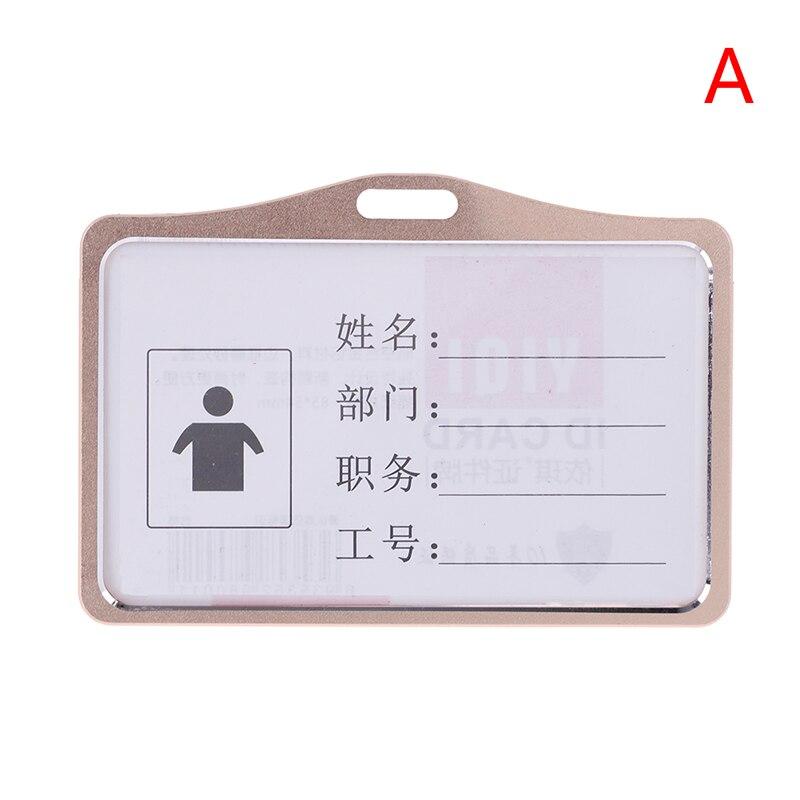 1 шт., алюминиевый сплав, рабочие визитницы, визитница, визитная карточка, ID значок, ремешок-держатель, хит, вертикальный металлический, ID, деловой чехол - Цвет: A