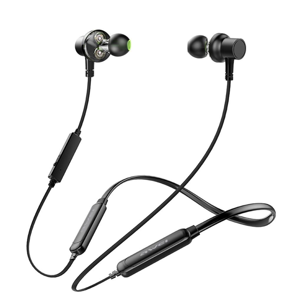 Awei Wireless Magnetic Bluetooth 4.2 Hanging Neck Waterproof Sport Earphones Noise Reduction Stereo Music Headphones Bluetooth Earphones & Headphones     - AliExpress