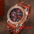 BOBO BIRD, роскошные брендовые часы, мужские золотые наручные часы с хронографом, выгравированное имя, сделай сам, подарок ему, рождественские п...