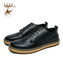 BACKCAMEL 2018 Spring and Autumn Low Back Retro Bullock Casual Shoes Men British Classic Wild Mens Business Lace Up