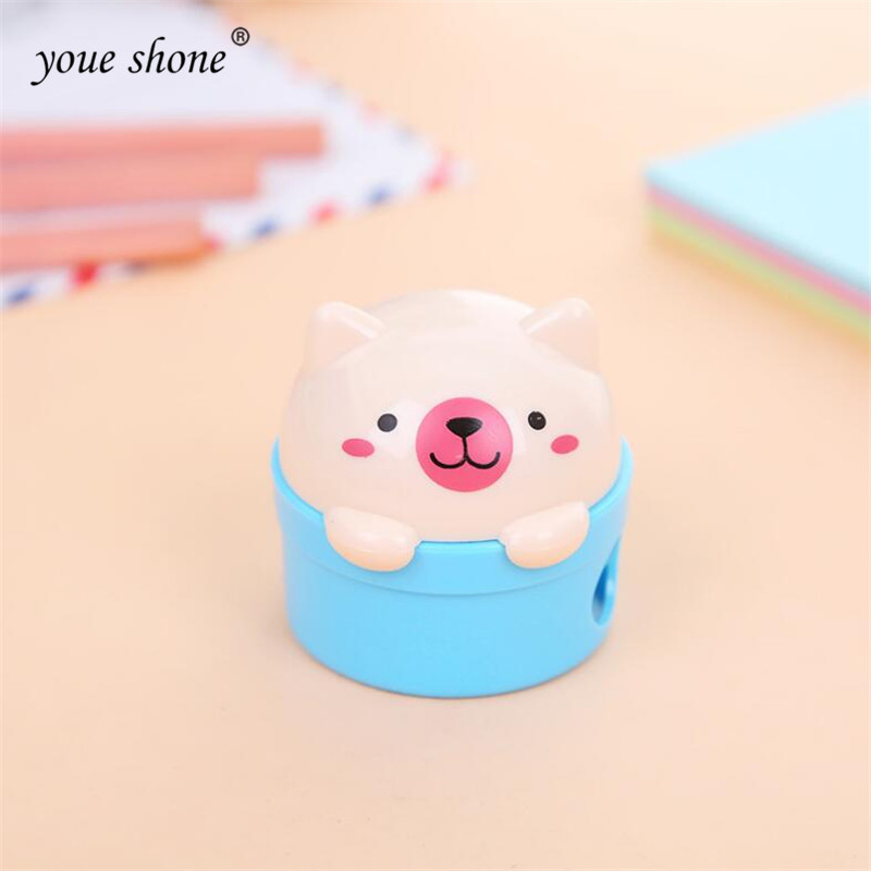 1pcs Cute Student Prize Cartoon Kitty Pencil Sharpener Bear Pencil Sharpener Cute Pencil Planer Wholesale and Retail