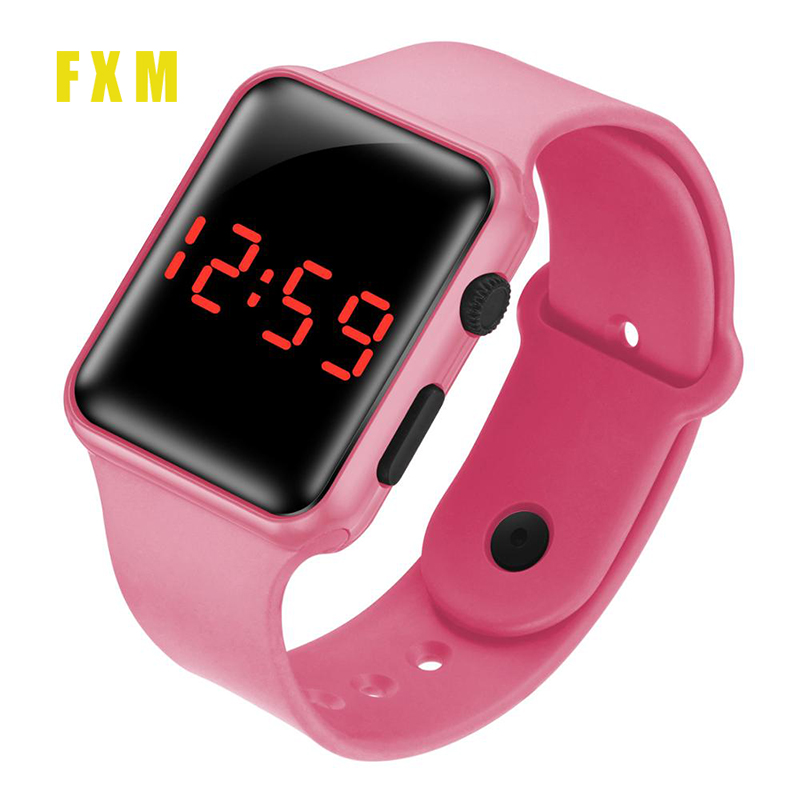 New Hot LED Sale Student Electronic Watch Children Watch Suitable For Boys And Girls Cute Bracelet Color Watch Free Shipping
