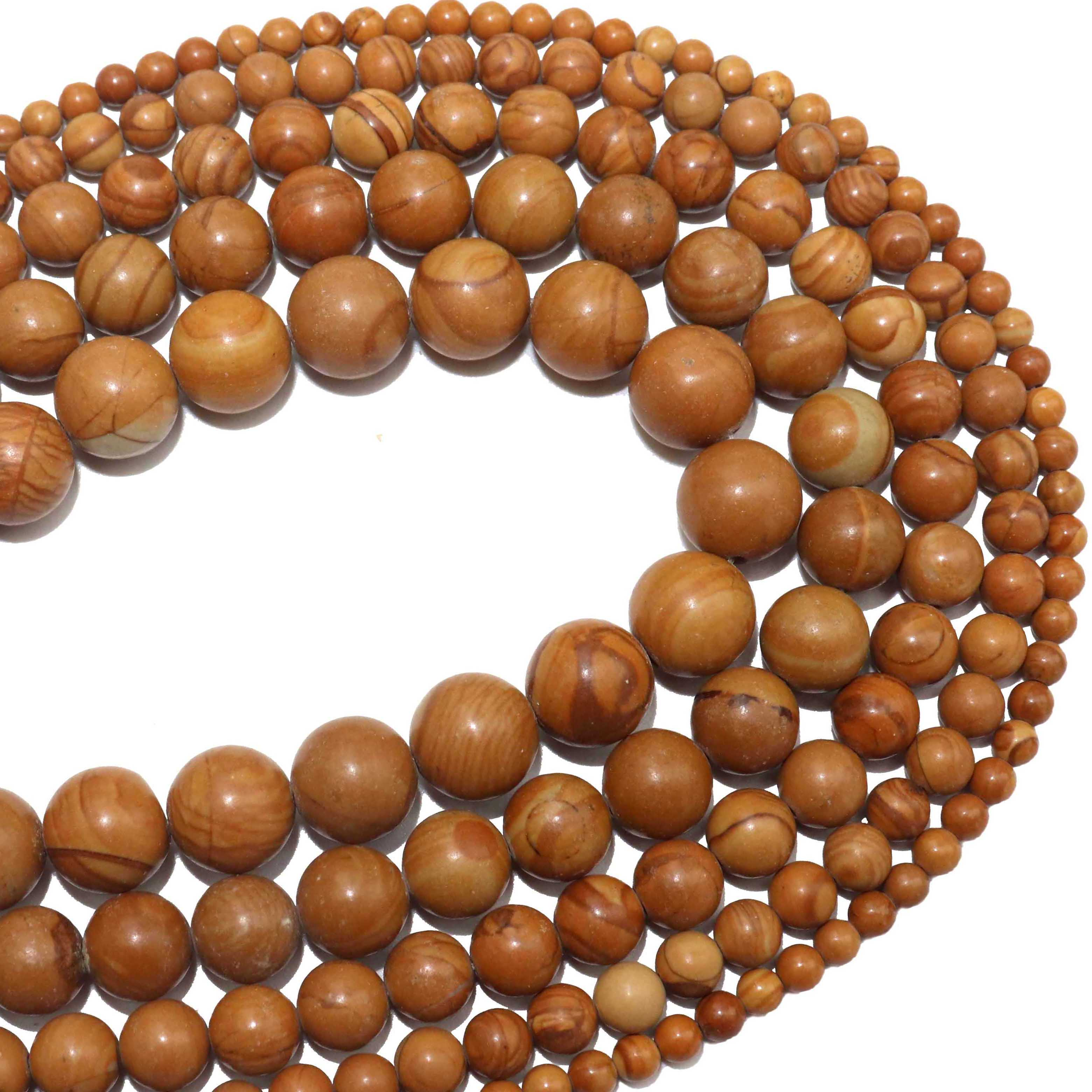 Free Ship 100pcs Natural Round Loose Wood Beads for Jewelry Making 6 8 10 14mm