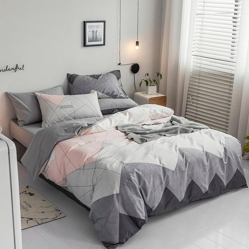 Ins Wind Cotton Net Red Cotton Quilt Cover Quilt Bed Linen,bedding Set