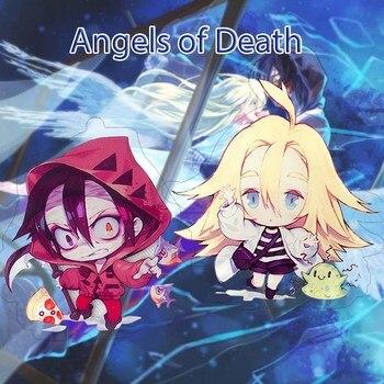 Anime ángeles de la muerte llavero figuras de manga Rachel Gardner Isaac Foster Ray llavero de cosplay de acrílico
