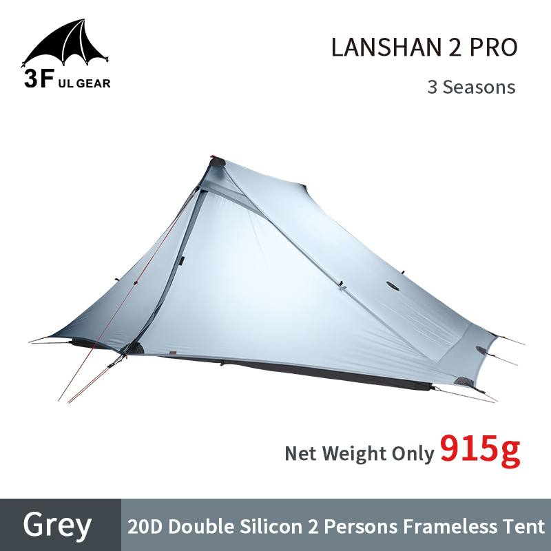 Shop For Cheap 3f Ul Gear Lanshan2 Pro Tent 20d Double Layer Silicone Ultralight Tent Outdoor 2 Persons 3/4 Season Pyramid Hiking Camping Tent Refreshing And Enriching The Saliva