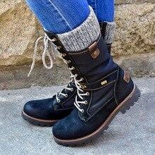 LOOZYKIT зимние сапоги Для женщин Базовая женские ботинки до середины икры круглый носок, высота до колена, молния, платформа, декор Женская обувь Теплая Обувь На Шнуровке; обувь; туфли