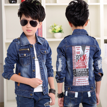 Childrens Denim Jackets Boys Trench Jean Jackets Girls Kids clothing Teenagers coat Casual outerwear Windbreaker Spring Autumn