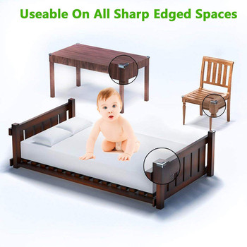 12Pcs Corner Guards Baby Safety L Shape Transparent Protector Cover Children Protection Furnitures Edge Corner Guards Cover 6