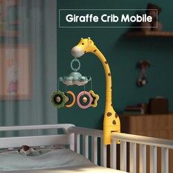 Projektion Krippe Glocke Spielzeug Mit Musik Beleuchtung 0-12 Monate Baby Multifunktionale Rotierenden Beruhigende Gum Bett Glocke
