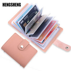 26 Card Slots Women Credit Card Wallet Fashion Cute Cards Holder Candy Color Korean Wallet