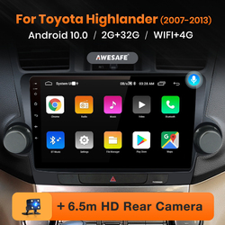 AWESAFE PX9 For Toyota Highlander XU40 2007 - 2013 Car Radio Multimedia Video Player Navigation GPS No 2 din 2din DVD Android 10