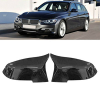 2pcs Car Rearview Mirror Covers Gloss Black For BMW F20 F21 F22 F30 F32 F36 X1 Car Side Rearview Mirror Covers Protector