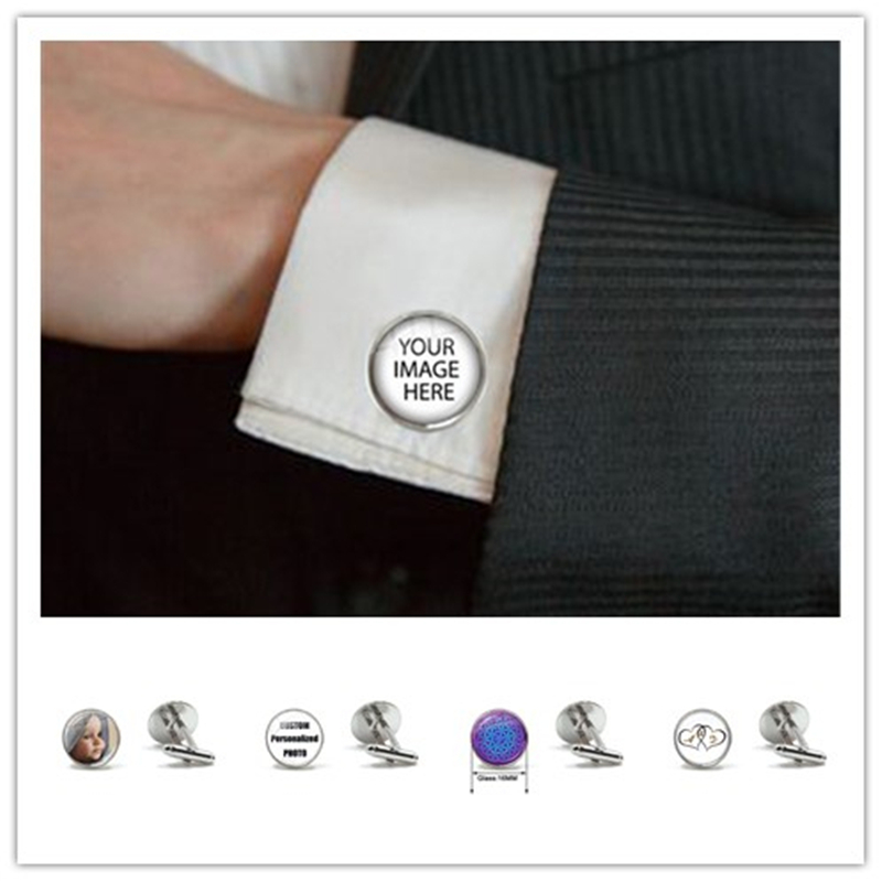 Personalized Custom Cufflinks Mum Dad Baby Children Grandpa Parents Cuff Button For Male Gentleman Shirt Wedding Cuff Links