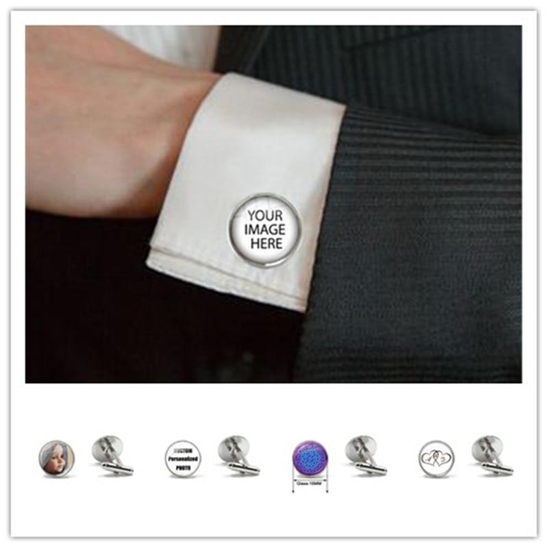 Personalized Custom Cufflinks Mum Dad Baby Children Grandpa Parents Cuff Button For Male Gentleman Shirt Wedding Cuff Links