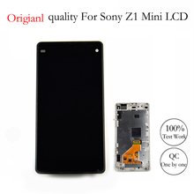 XIANHUAN  Origianl quality For Sony Xperia Z1 Mini Compact M51w D5503 LCD   Screen display Touch digitizer assembly With Frame screen for sony xperia z3 compact lcd touch display d5803 d5833 digitizer frame for sony z3 mini screen replacement adhesive