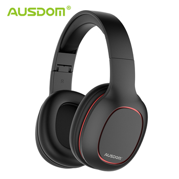 Ausdom M09 Bluetooth Headphone Over-Ear Wired Wireless Headphones Foldable Bluetooth 5.0 Stereo Headset with Mic Support TF Card 1