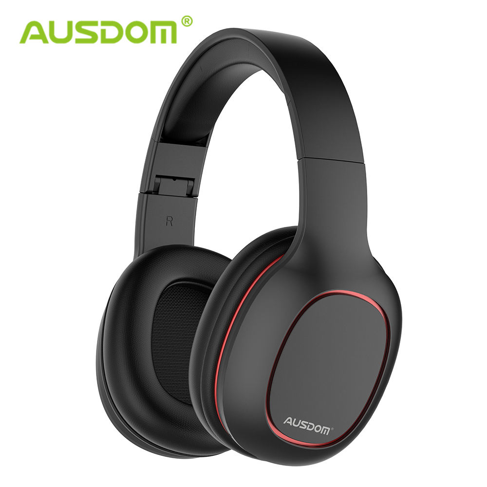 Ausdom M09 Bluetooth Headphone Over-Ear Wired Wireless Headphones Foldable Bluetooth 5.0 Stereo Headset With Mic Support TF Card