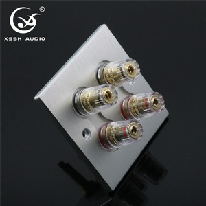 Image 4 - 1 set XSSH Audio Hi End Gold Plated Amplifier Speaker Terminal Female Long Short Version Including Binding Post and banana plug