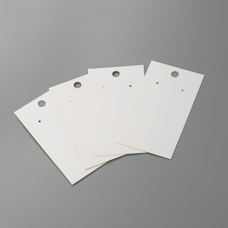 DoreenBeads New Simple Paper Jewelry Display Card Rectangle White Dor Necklace/Earrings Jewelry Gifts 89mm X 50mm, 20 Sheets