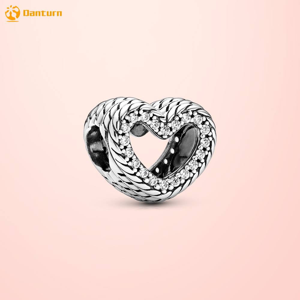 Danturn осень 925 стерлингового серебра бисера змея цепи c рисунком