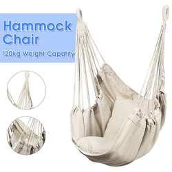 Styl skandynawski biały hamak na zewnątrz kryty ogród sypialnia sypialnia wiszące krzesło dla dziecka dorosły Swinging pojedynczy bezpieczny hamak na