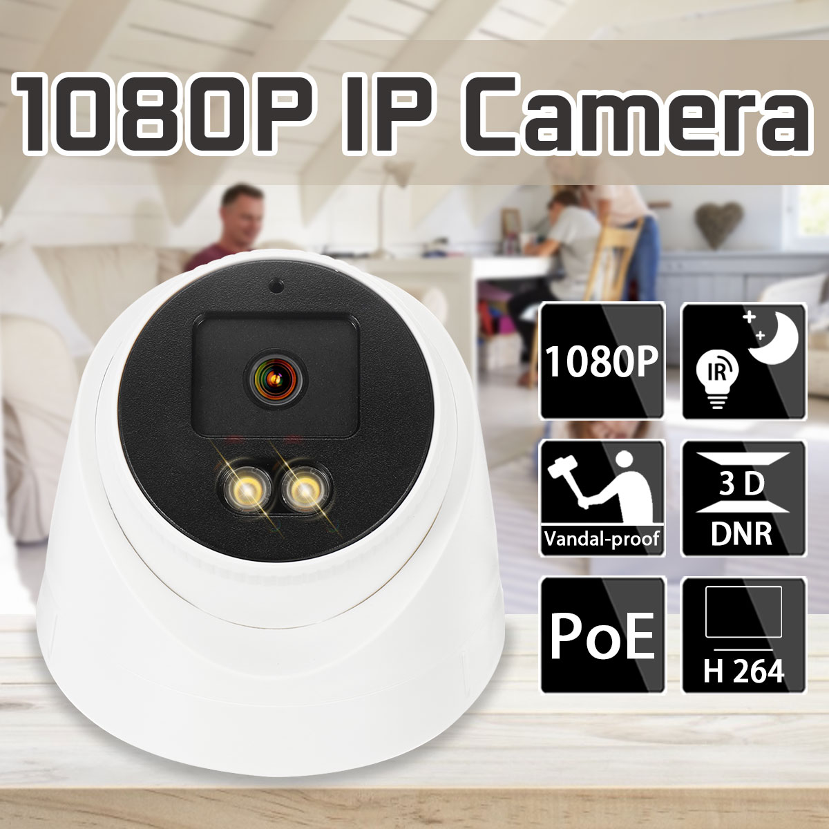 IP Camera Wifi Camera Full-color Night Vision 2MP Security Outdoor Surveillance Camera CCTV Nightvision Video Surveillance POE