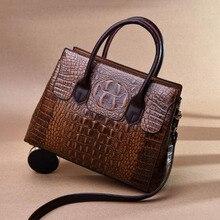 Ansloth Crocodile Pattern Handbags Brand Designer Women Bags Luxury Pu Leather Bag Womens  Shoulder Crossbody Bolsa Sac
