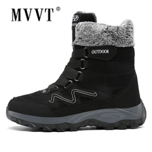 2019 New High Hiking Boots With Fur Outdoor Shoes Men Warm Snow Keep Winter Sneakers