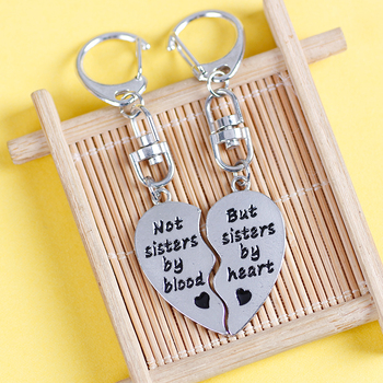 New Best Friends All-around Splicing Love Lettering Fashion Boudoir Alloy Pendant Key Chain Women's Bag Keychain Wholesale 2020 image