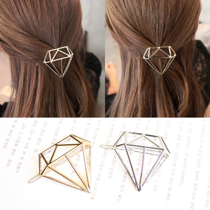 Minimalista Geo Dia Triangle Circle Moon Lip Hair Pin Clip Gioielli Accessori Accessori per capelli da sposa stile Boho Accessori per donna