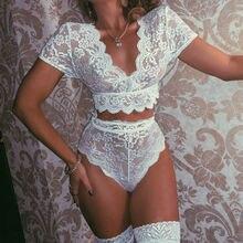 2020 Women Lace Sexy Lingerie Nightwear Babydoll G-string Underwear Set Sleepwear Pajamas Exotic