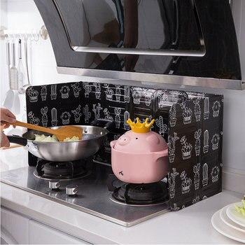 Utensilios de cocina plegables de aluminio, placa deflectora para cocina, sartén para cocina, protector contra salpicaduras de aceite, accesorios para cocina