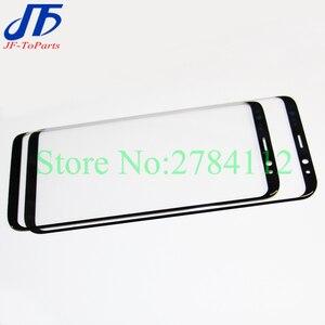 """Image 2 - 10 pièces écran tactile de remplacement pour Samsung Galaxy S8 G950 G950F 5.8 """"/S8 + Plus G955 6.2"""" noir avant extérieur verre OCA couvercle de lentille"""