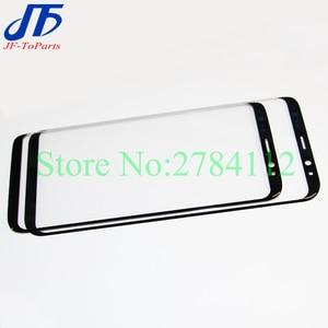 "Image 2 - 10 stuks Touch panel Vervanging Voor Samsung Galaxy S8 G950 G950F 5.8 ""/S8 + Plus G955 6.2"" zwarte Voorkant Outer Glas OCA Lens Cover"