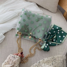 Shoulder Bag New Transparent Jelly Women Chain Crossbody PVC