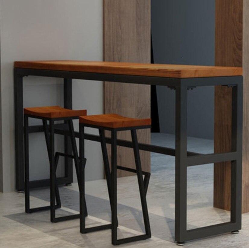 10%Retro Bar Chair Wrought Iron Bar Stool Solid Wood Bar Stool Creative High Stool Leisure Bar Chair Front Coffee Chair