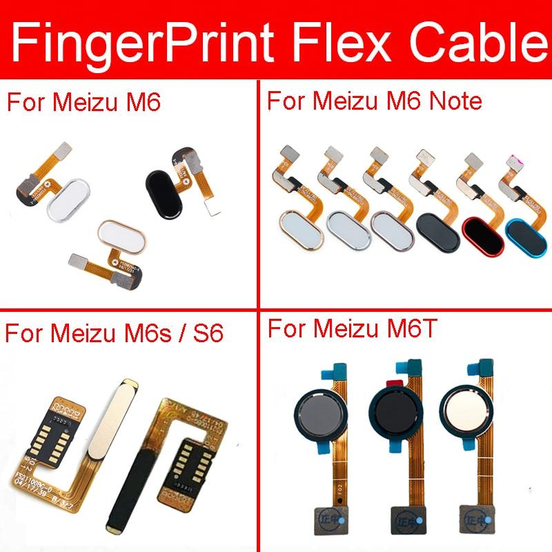 Touch ID Fingerprint Sensor Flex Cable For Meizu Meilan S6 M6 M6s M6T Note Home Return Button Flex Cable Replacement Repair