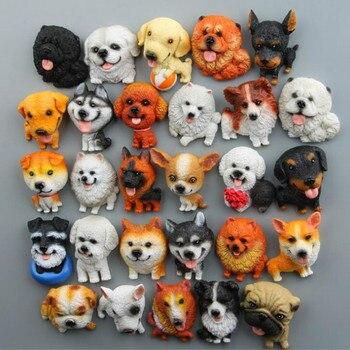 Figuras de acción de cachorros de resina, imán para nevera, regalo para...