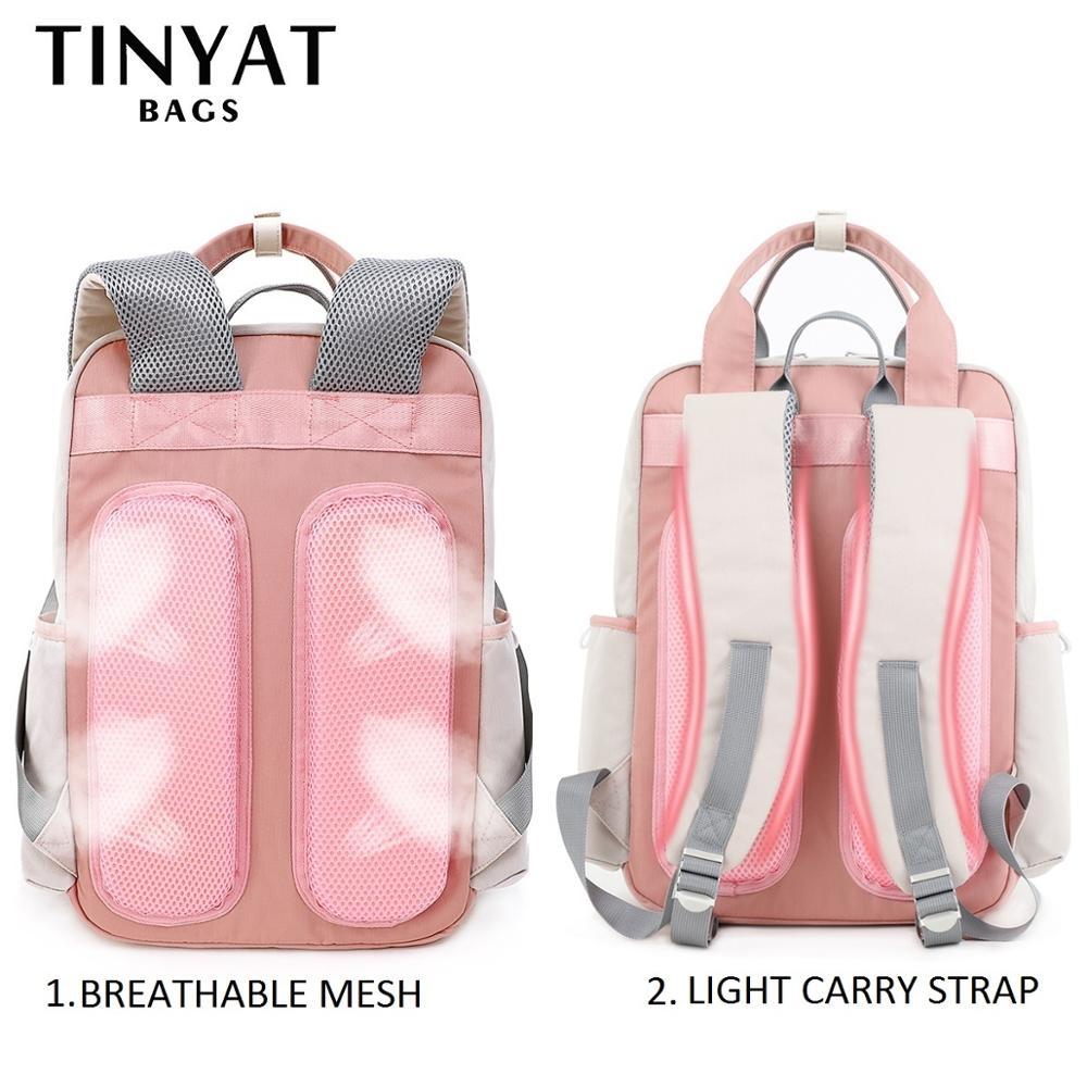 TINYAT Candy, Женский тканевый рюкзак, водонепроницаемый, feminina, рюкзак для ноутбука, 15, розовый, пэчворк, школьные рюкзаки, сумки для девочек-подро...