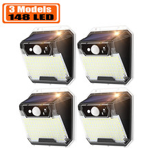 Outdoor Solar Lights Solar lamp Outdoor Waterproof, 148 LED Security Lights Dusk to Dawn Wireless with 3 Modes Garden Gate