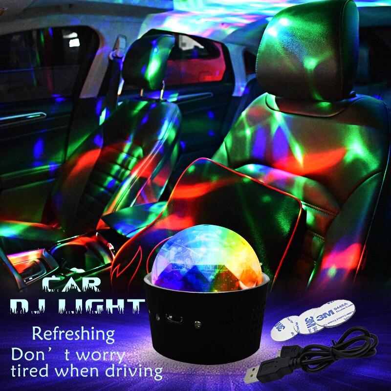 DJ RGB Light Colorful KTV Car Party Atmosphere Lamp For Jaguar Club XE XK XJ XF Xel Xfl Xjl Xjs Xj6 E F Pace S E Type Xtype Xkr