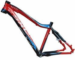 Marco de bicicleta de montaña de 26x17 pulgadas, marco de bicicleta de montaña ultraligero de aleación de aluminio, piezas de bicicleta