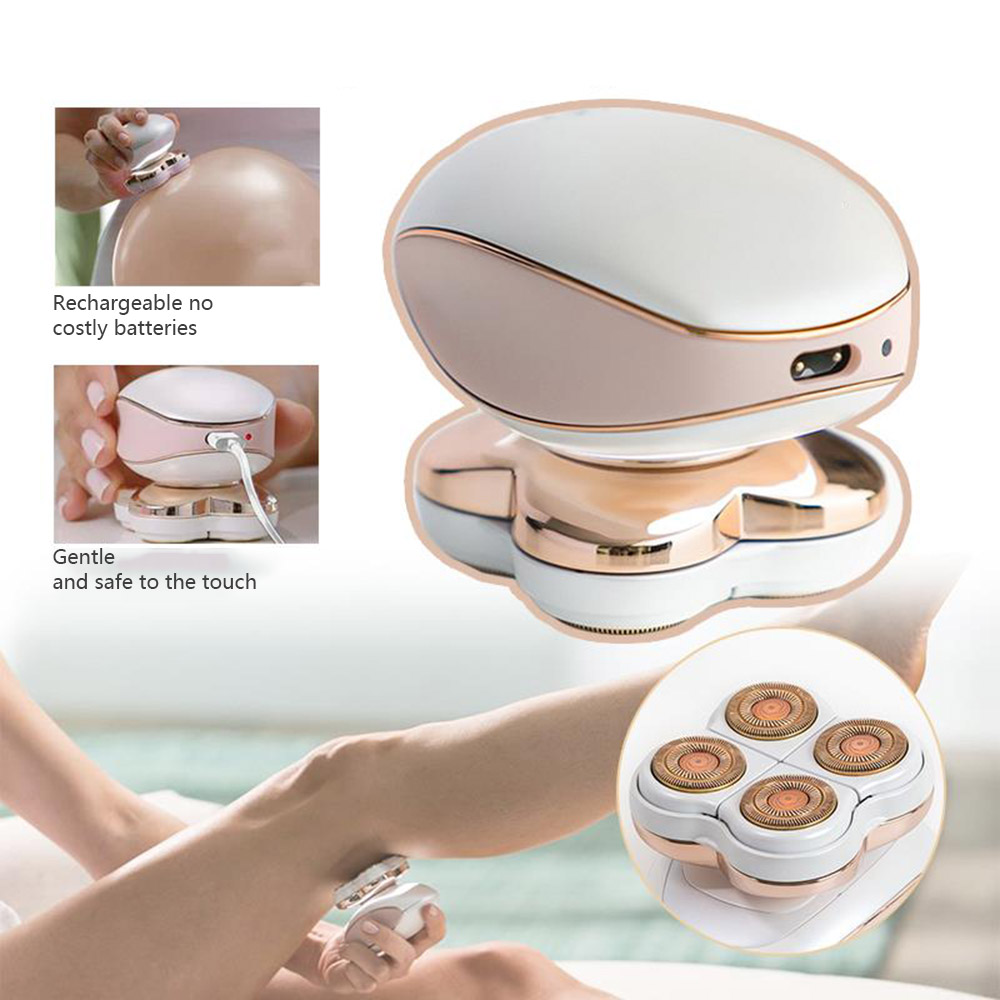 Portable Electric Epilator USB Rechargeable Four-Head Hair Removal Instrument Painless Body Leg Hair Removal Device Dropshipping