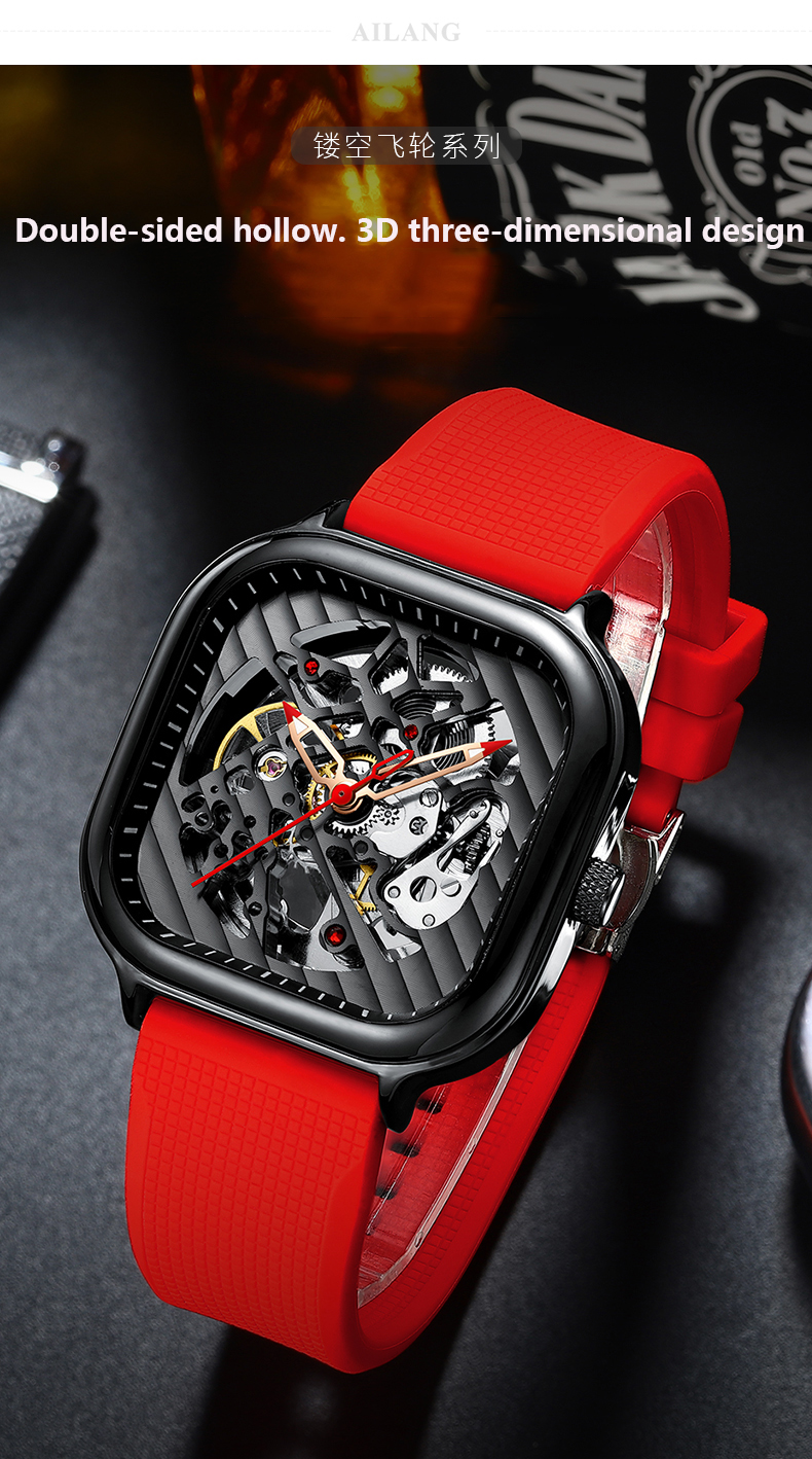 Hacd8729f52e74aca9bff79e7aacc069bJ 2020 new men's automatic watch brand luxury silicone strap hollow Swiss square ten watches